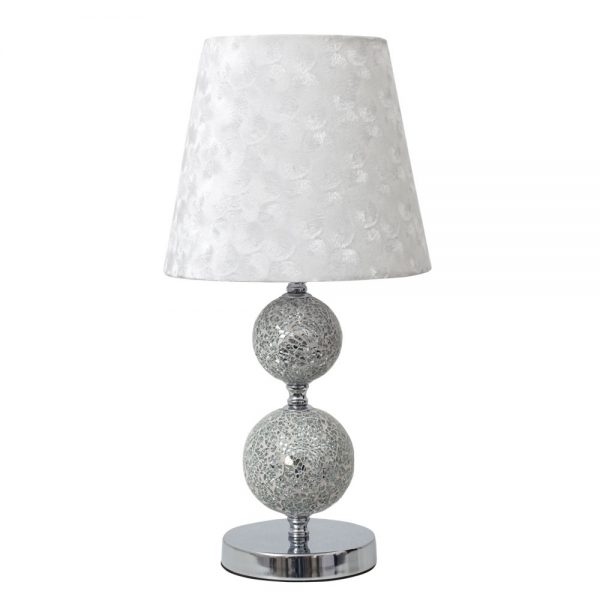 Lámpara de mesa con pantalla textil Mendoza