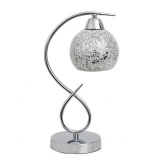 Lámpara mesa 1 luz cristal mosaico Tandil
