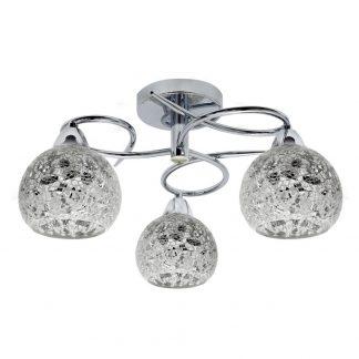 Plafón 3 luces cristal mosaico Tandil