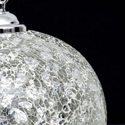Lámpara colgante 1 luz cristal mosaico Tandil