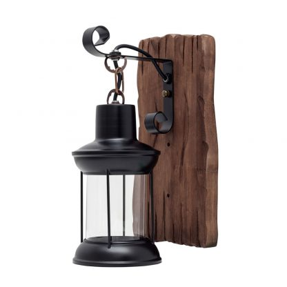 Aplique pared 1 luz madera Cortijo