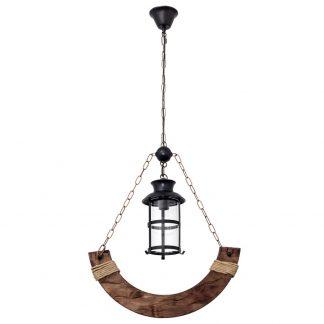 Lámpara colgante 1 luz madera Cortijo