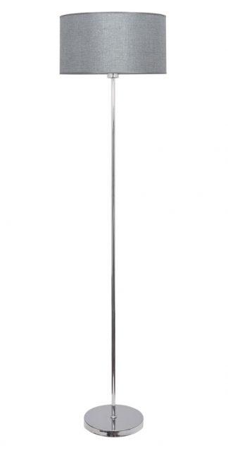 Lámpara de pie pantalla plata Axel
