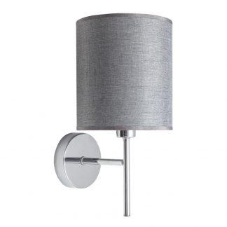 Lámpara pared pantalla plata Axel