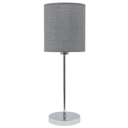 Lámpara mesa pantalla plata Axel