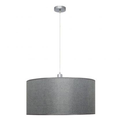 Lámpara colgante pantalla plata Axel