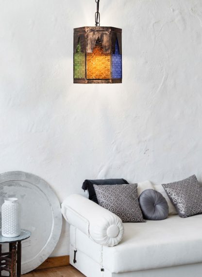 Lámpara colgante artesanal Meknes