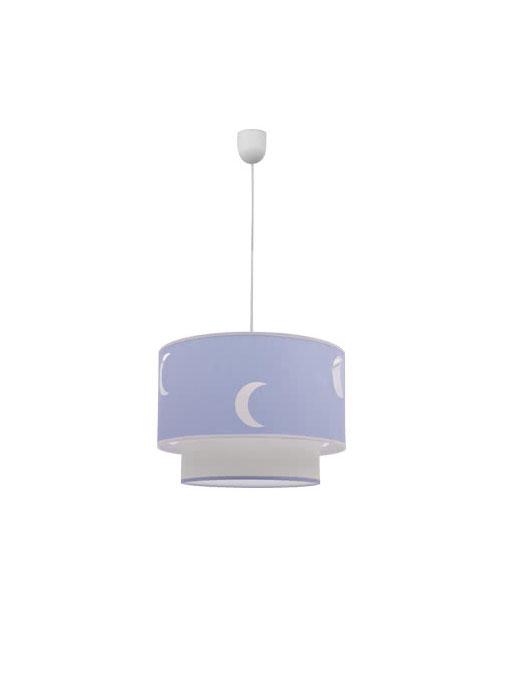 Lámpara colgante doble pantalla infantil Órbita