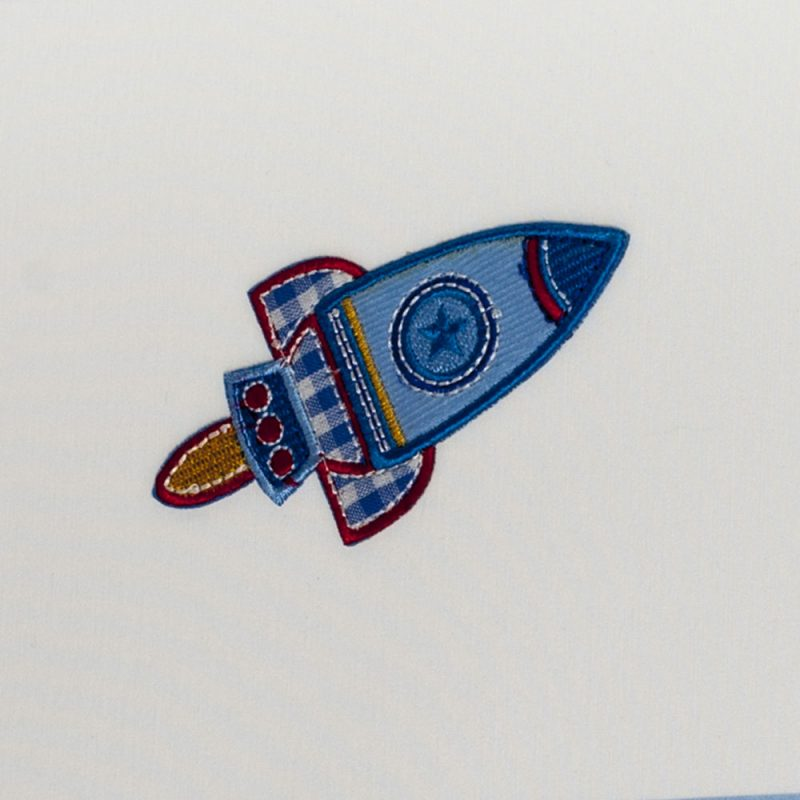 Lámpara colgante infantil pantalla cuadrada Cohete