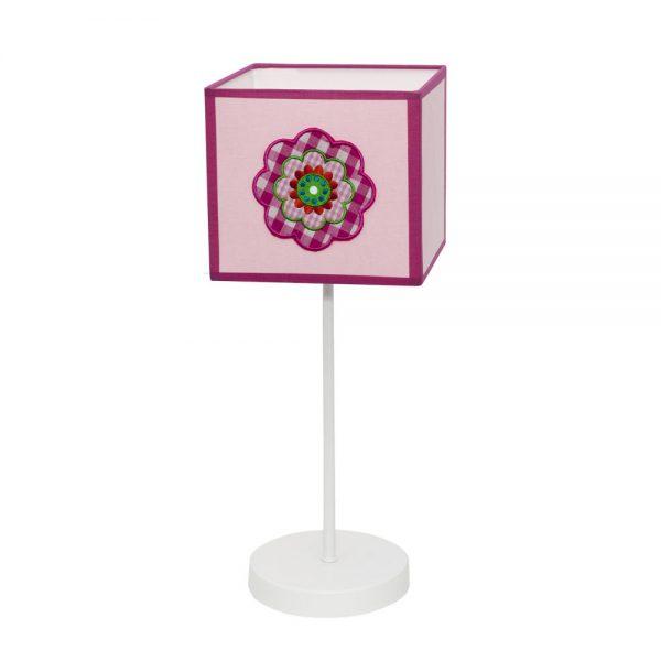 Lámpara mesa infantil pantalla cuadrada Pétalo