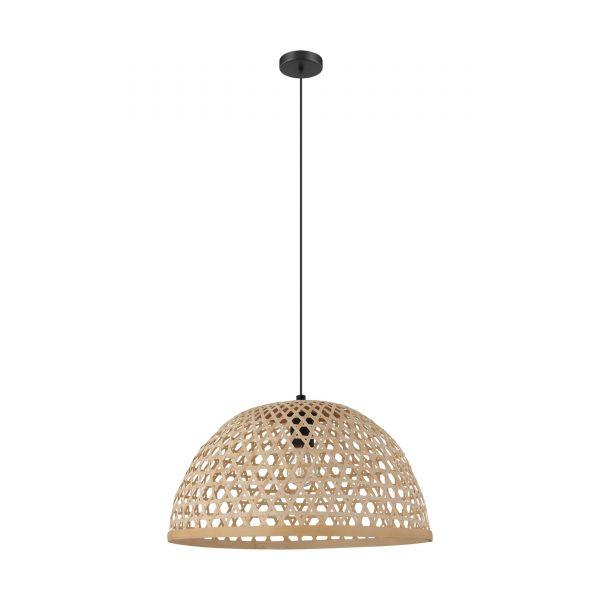 Lámpara colgante madera natural 49,5 cm. Claverdon
