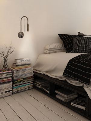 Aplique pared lectura flexible led Madrazo