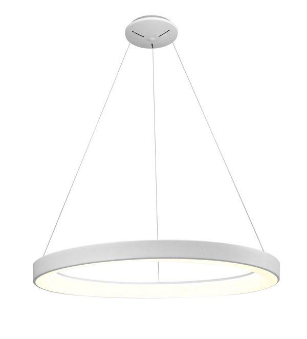 Lámpara techo led blanca circular Niseko