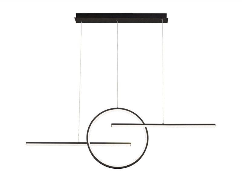 Lámpara de techo led dos barras y un circulo Kitesurf
