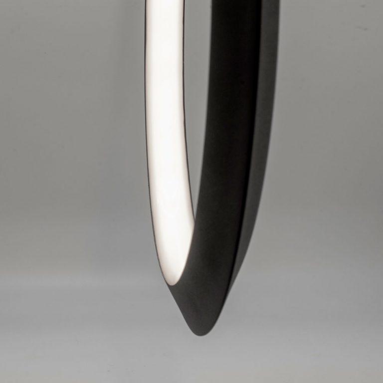Lámpara de techo led una barra y un aro central Kitesurf