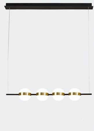 Lámpara techo led lineal negro y oro 103 cm Cuba