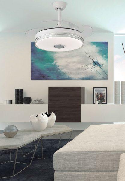 Ventilador techo led aspas plegables 108 cm Matanuska