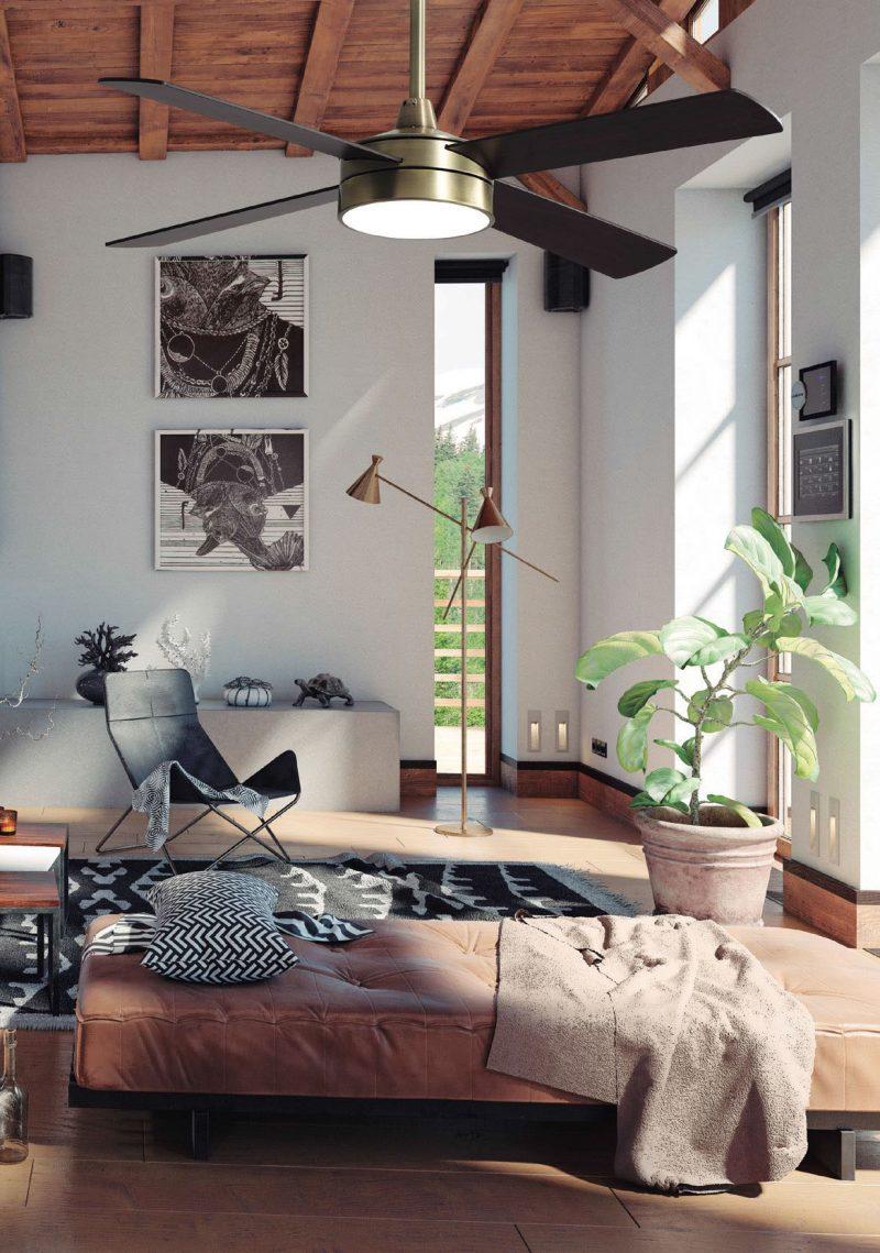 Ventilador techo led 4 aspas 132 cm Nevery