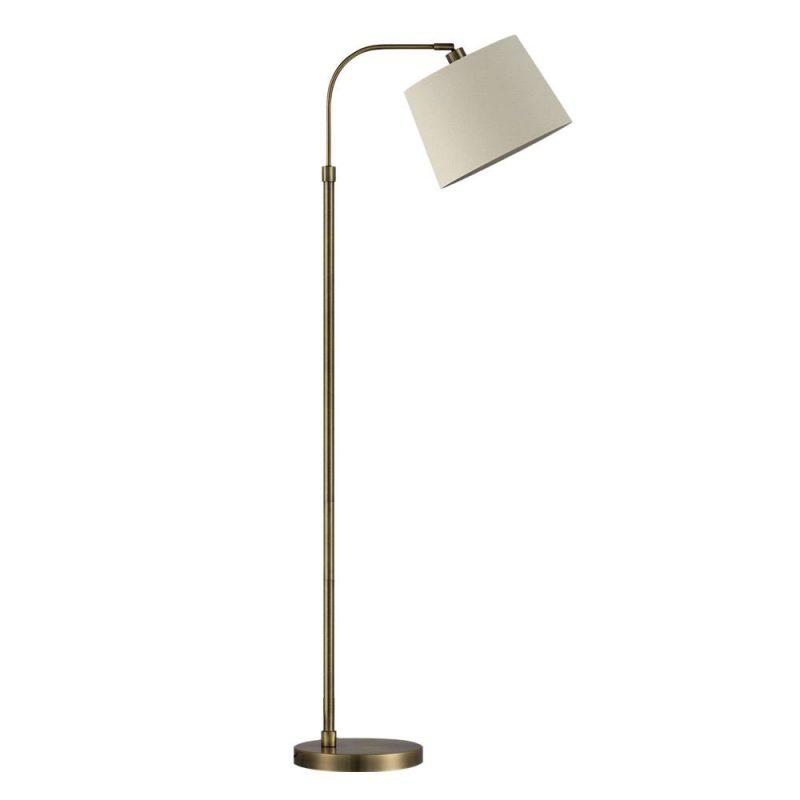Lámpara suelo salón 1 luz pantalla Milad