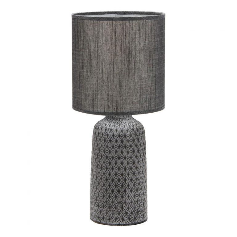 Lámpara de mesa cerámica pantalla Tilapia