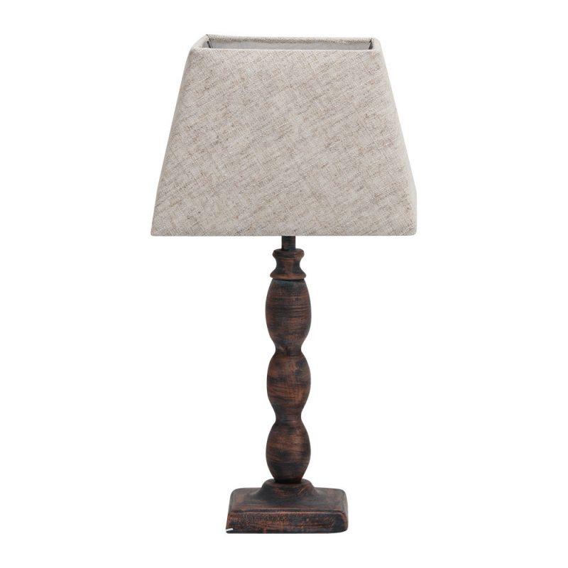Lámpara de mesa metal pantalla Gurami