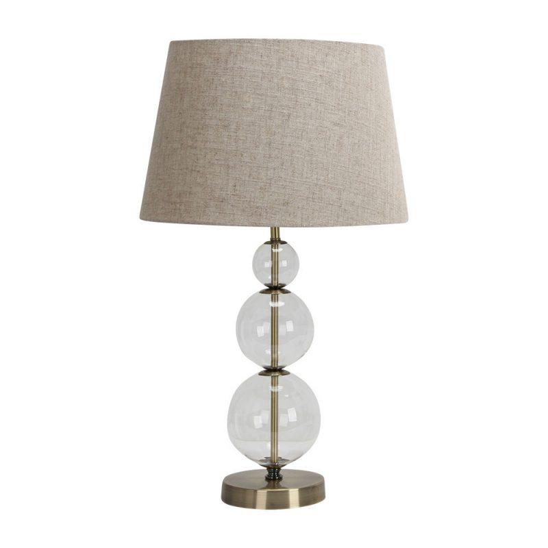 Lámpara de mesa metal y cristal pantalla Platy