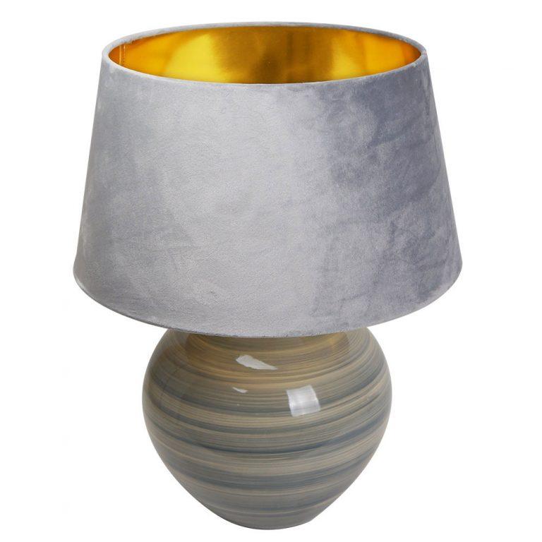 Lámpara de mesa cerámica con pantalla terciopelo Betta
