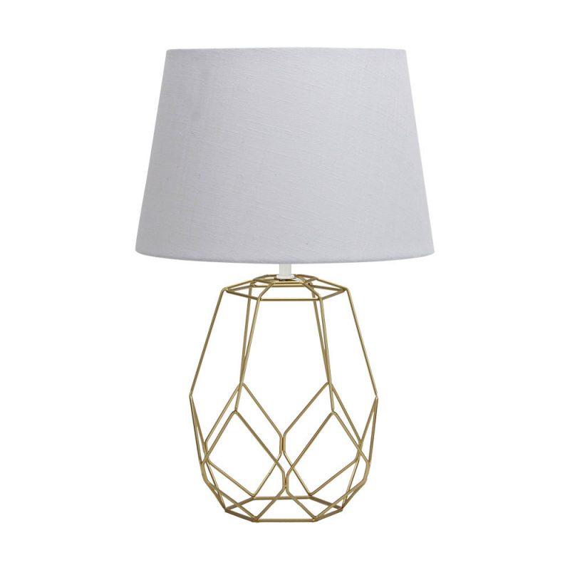 Lámpara de mesa metal pantalla Labeo