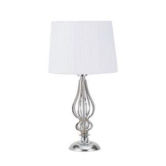 Lámpara de mesa metal con pantalla Cebrano