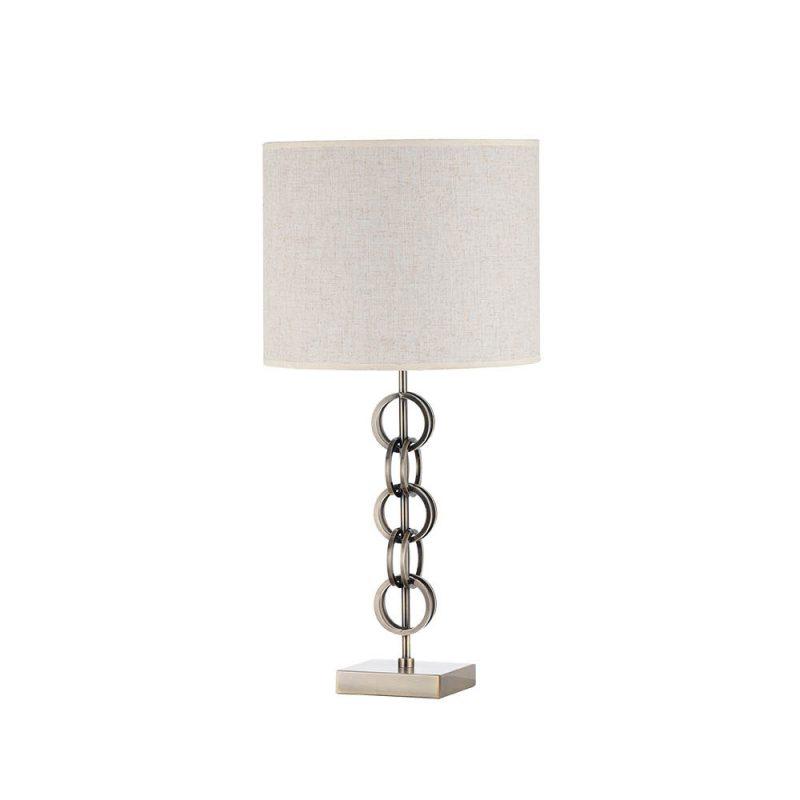 Lámpara de mesa metal con pantalla Koto