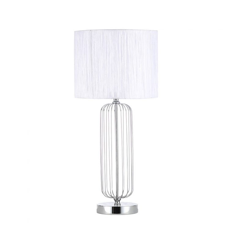 Lámpara de mesa metal con pantalla Mansonia
