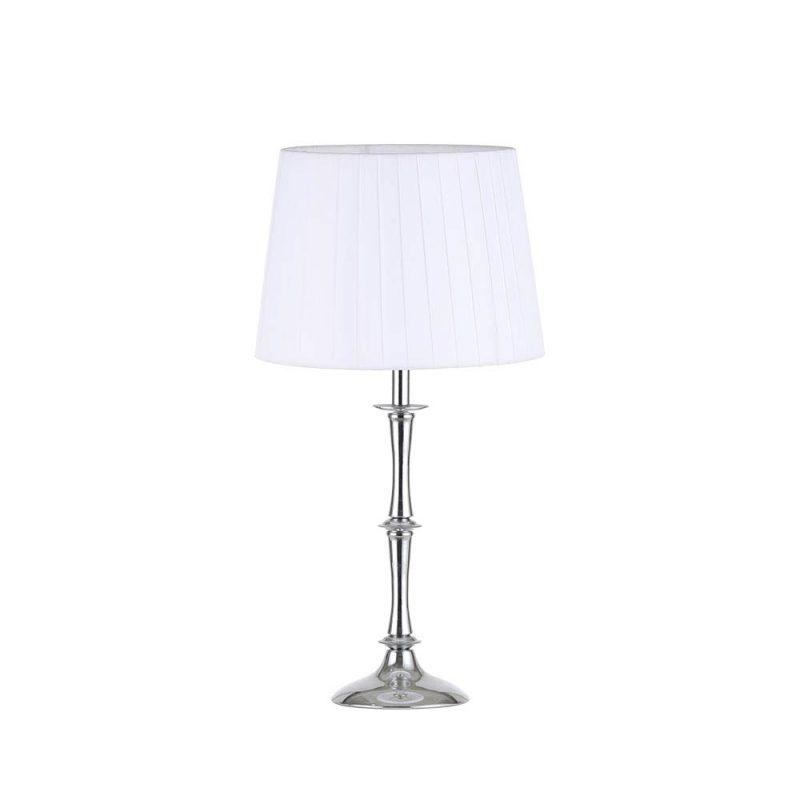 Lámpara de mesa metal con pantalla plisada Oregon