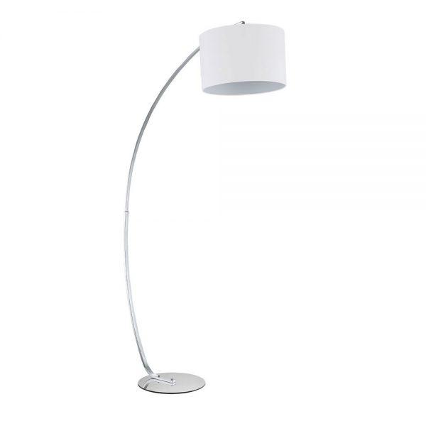 Lámpara de suelo salón cromo con pantalla Gliese