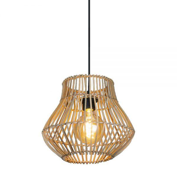 Lámpara colgante 1 luz Rattan Dracena 5