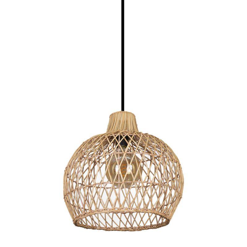 Lámpara colgante 1 luz Rattan Dracena 3