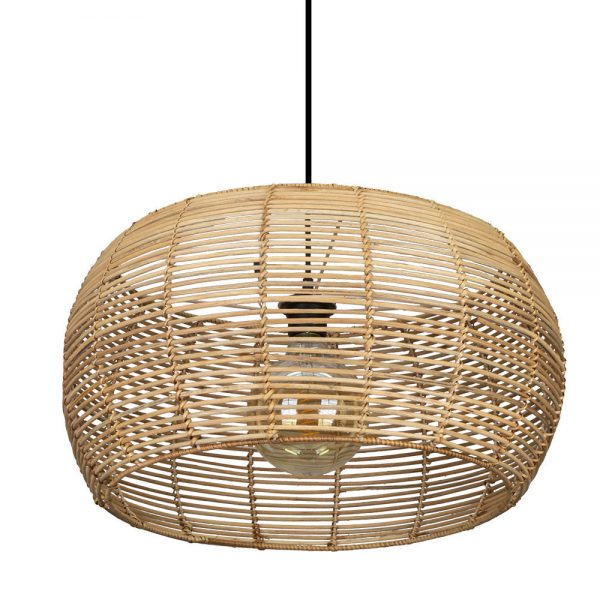 Lámpara colgante 1 luz Rattan Dracena 1