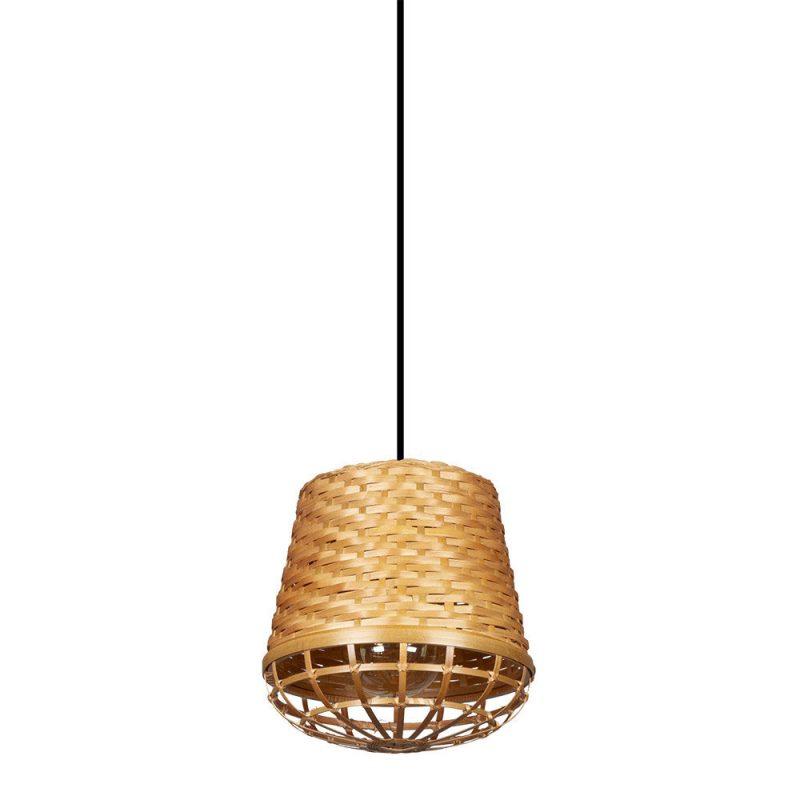Lámpara colgante 1 luz bambú Fargesia 4