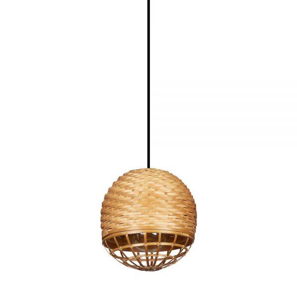 Lámpara colgante 1 luz bambú Fargesia 3