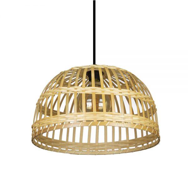 Lámpara colgante 1 luz bambú Fargesia 2