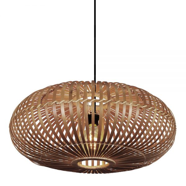 Lámpara colgante 1 luz bambú Fargesia 1