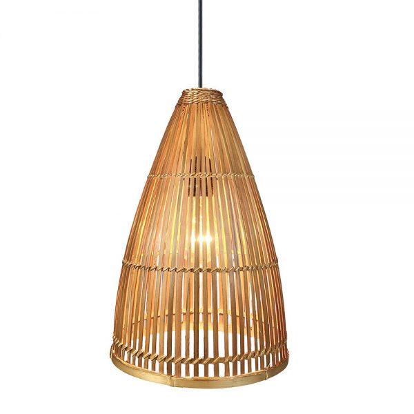 Lámpara colgante 1 luz bambú Croton 6