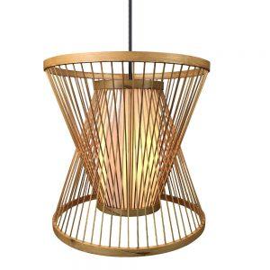 Lámpara colgante 1 luz bambú Croton 5