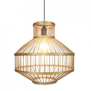 Lámpara colgante 1 luz bambú Croton 4