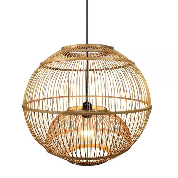 Lámpara colgante 1 luz bambú Croton 3