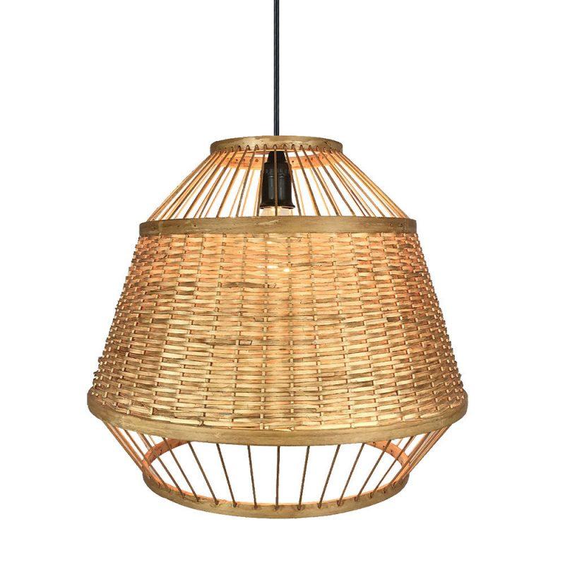 Lámpara colgante 1 luz bambú Croton 2