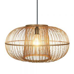 Lámpara colgante 1 luz bambú Croton 1