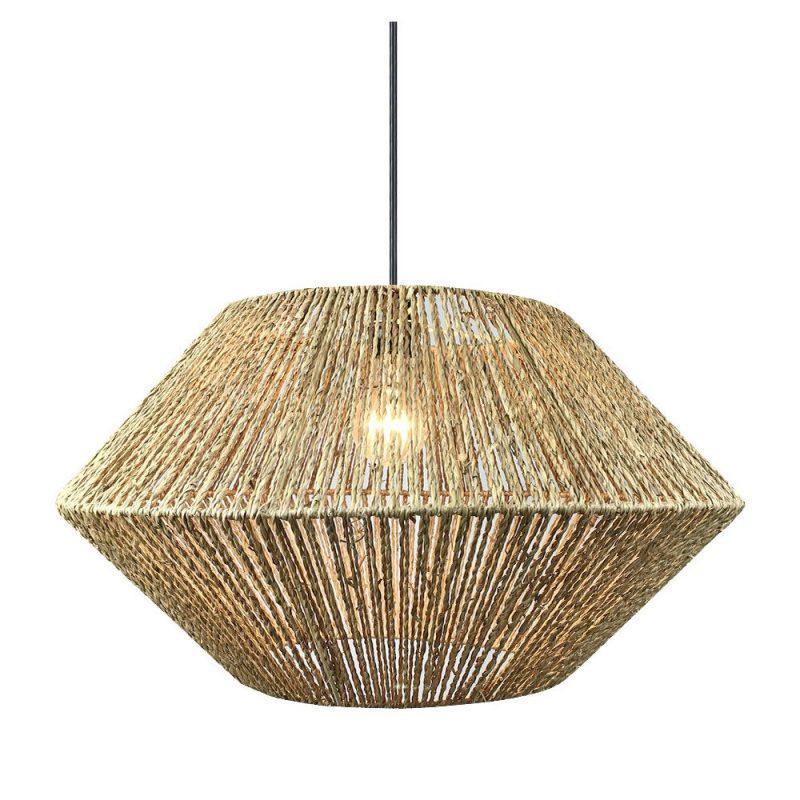 Lámpara colgante 1 luz vegetal marino Bromelia 1