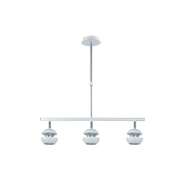 Lámpara techo 3 focos orientables lineal Beethoven