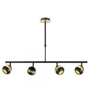 Lámpara techo 4 focos orientables lineal Beethoven