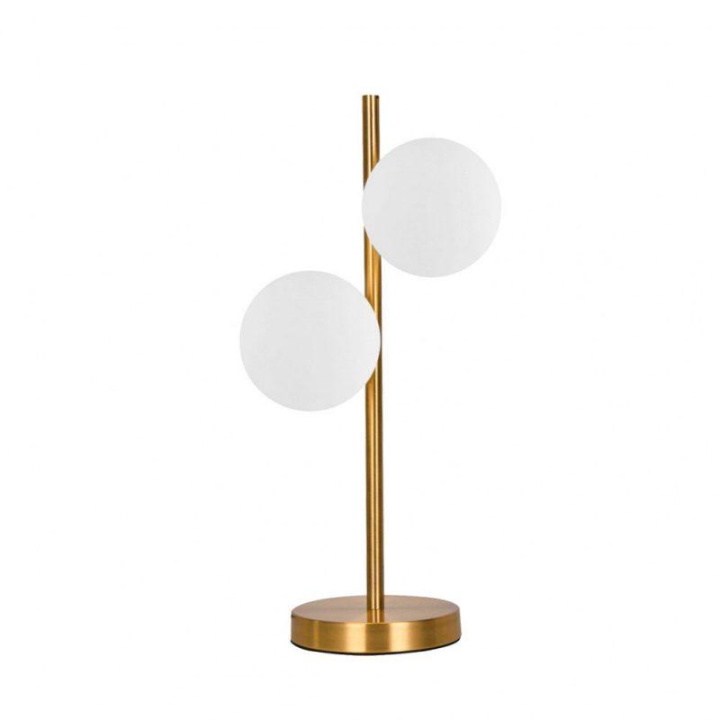 Lámpara de mesa 2 luces oro cobrizo Frey